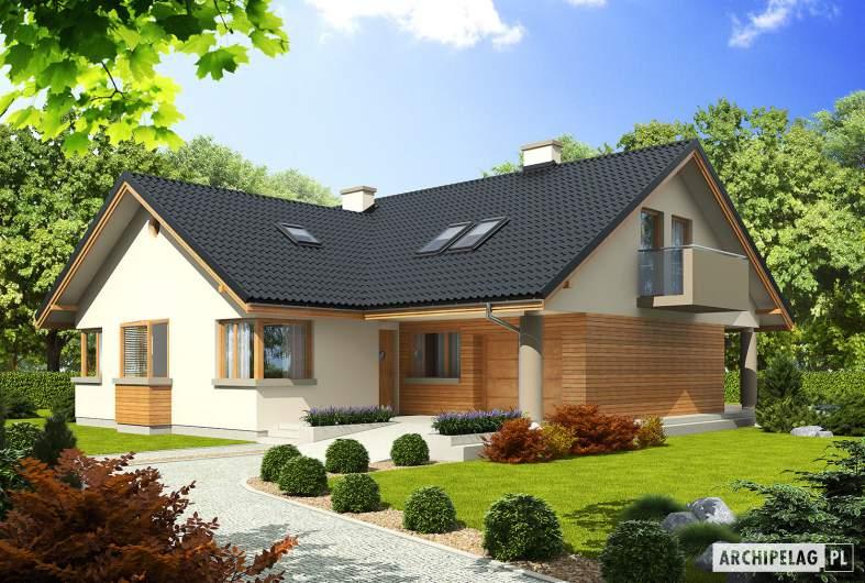 Projekt domu Malena G1 - wizualizacja frontowa