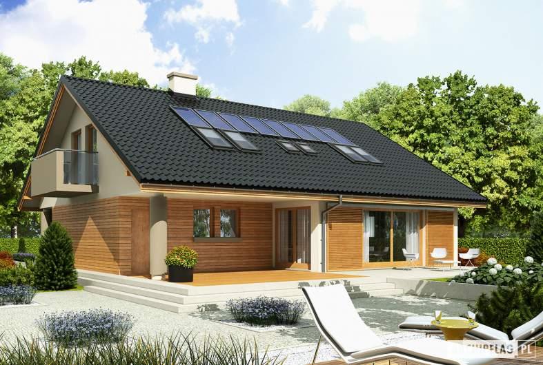 Projekt domu Malena G1 - wizualizacja ogrodowa
