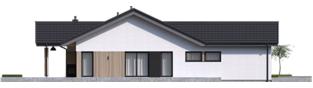 Projekt domu Simon IV G2 ENERGO PLUS - elewacja lewa