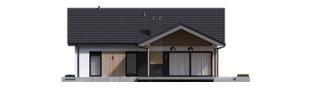 Projekt domu Simon IV G2 ENERGO PLUS - elewacja tylna