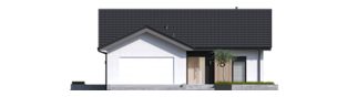 Projekt domu Simon IV G2 ENERGO PLUS - elewacja frontowa
