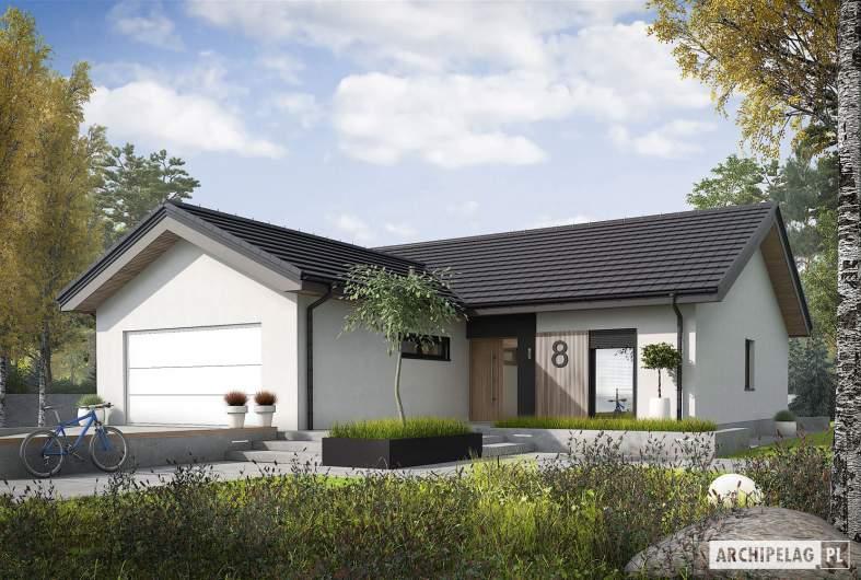 Projekt domu Simon IV G2 ENERGO PLUS - wizualizacja frontowa