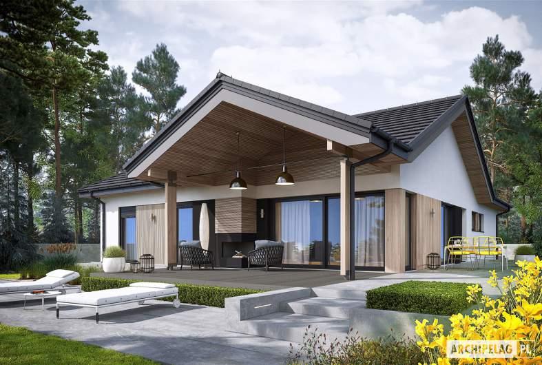 Projekt domu Simon IV G2 ENERGO PLUS - wizualizacja ogrodowa