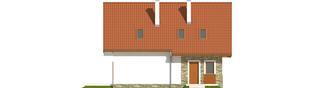 Projekt domu Anulka - elewacja tylna