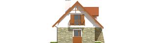 Projekt domu Anulka - elewacja lewa