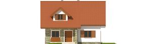 Projekt domu Anulka - elewacja frontowa