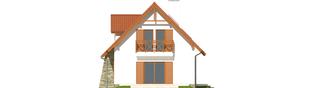 Projekt domu Anulka - elewacja prawa