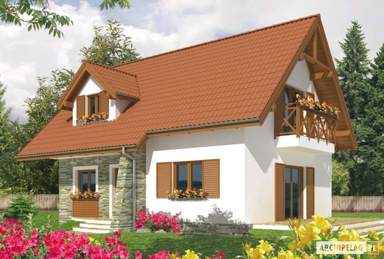 Projekt domu Anulka - wizualizacja ogrodowa