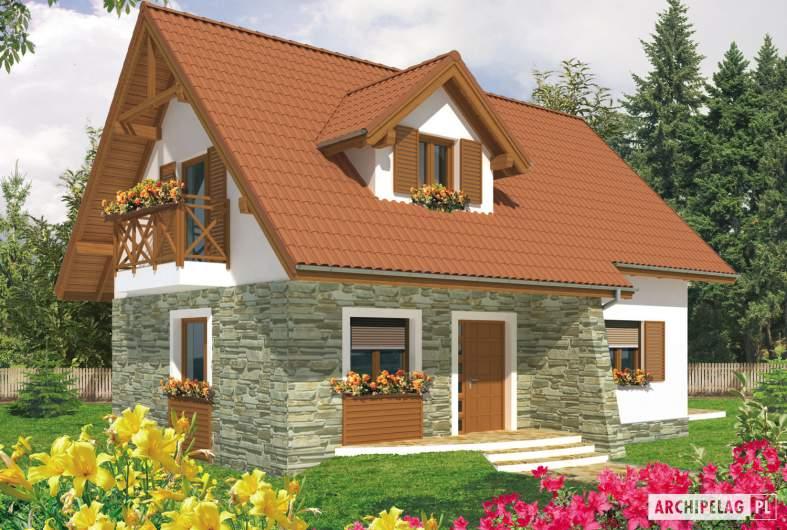 Projekt domu Anulka - wizualizacja frontowa