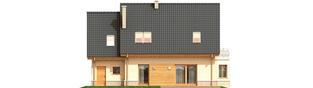 Projekt domu Olcia G1 - elewacja tylna