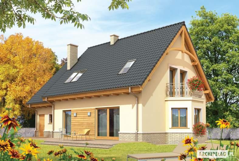 Projekt domu Olcia G1 - wizualizacja ogrodowa
