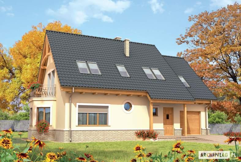 Projekt domu Olcia G1 - wizualizacja frontowa