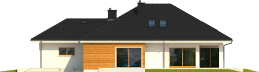 Liv 3 G2 - Projekt domu Liv 3 G2 - elewacja prawa