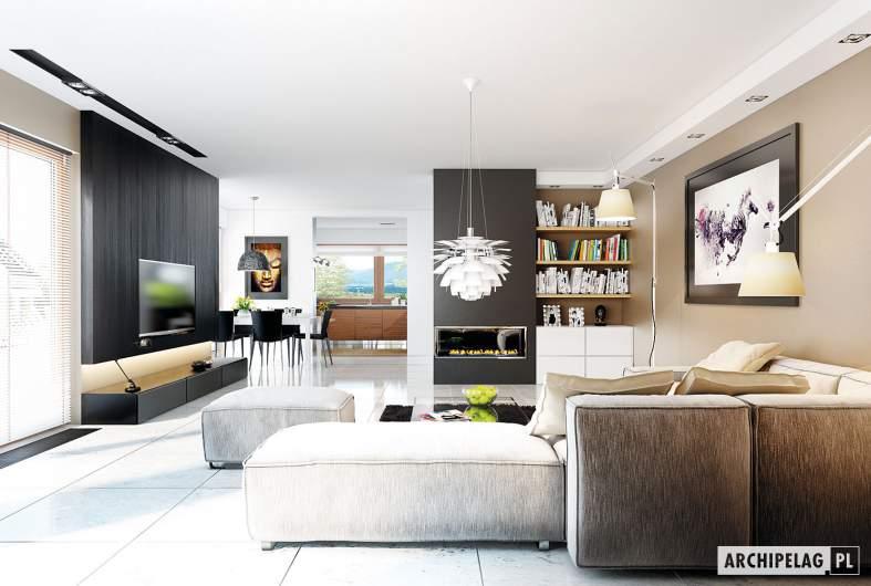 Projekt domu Liv 3 G2 - wizualizacja pokój dzienny