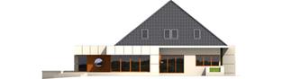 Projekt domu Pyramid G2 - elewacja prawa