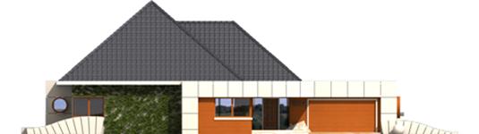 Pyramid - Projekt domu Pyramid G2 - elewacja frontowa