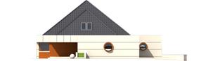 Projekt domu Pyramid G2 - elewacja lewa