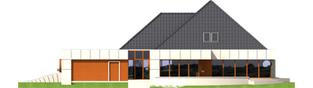 Projekt domu Pyramid G2 - elewacja tylna