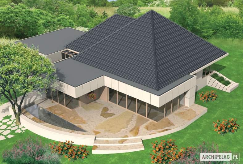 Projekt domu Pyramid G2 - widok z góry