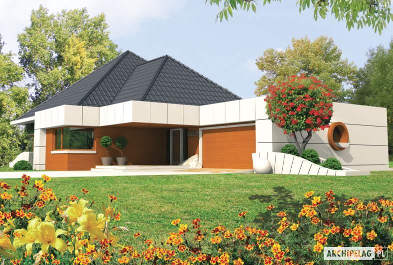 Projekt domu Pyramid G2 - wizualizacja frontowa