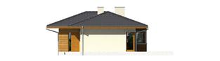 Projekt domu Bil II (z wejściem od południa) - elewacja frontowa