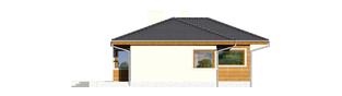 Projekt domu Bil II (z wejściem od południa) - elewacja tylna