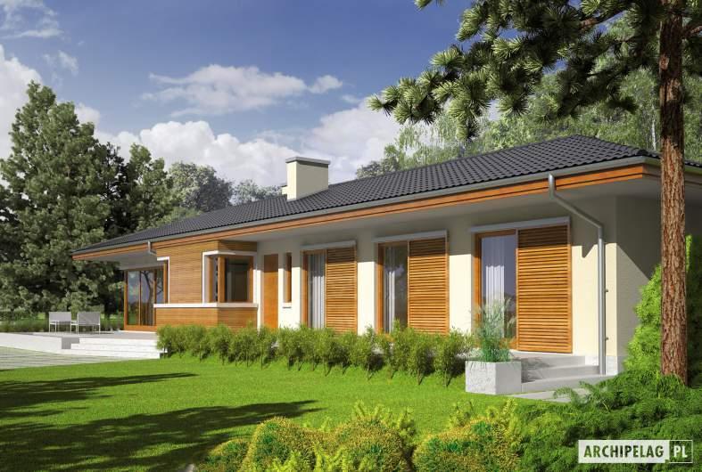 Projekt domu Bil II (z wejściem od południa) - Projekty domów ARCHIPELAG - Bil II (z wejściem od południa) - wizualizacja ogrodowa