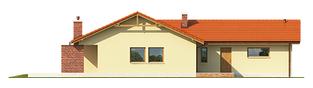 Projekt domu India G2 (wersja A) - elewacja tylna