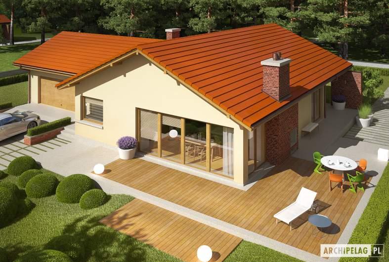 Projekt domu India G2 (wersja A) - Projekty domów ARCHIPELAG - India G2 (wersja A) - widok z góry
