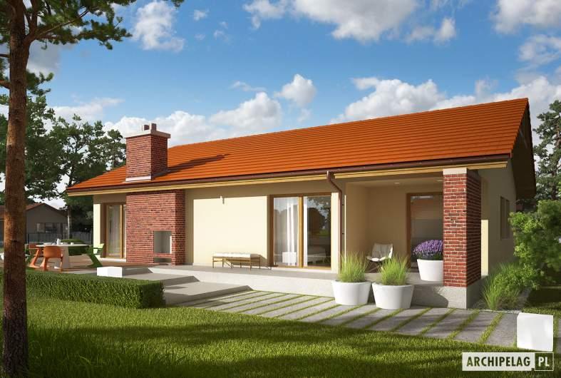 Projekt domu India G2 (wersja A) - Projekty domów ARCHIPELAG - India G2 (wersja A) - wizualizacja ogrodowa