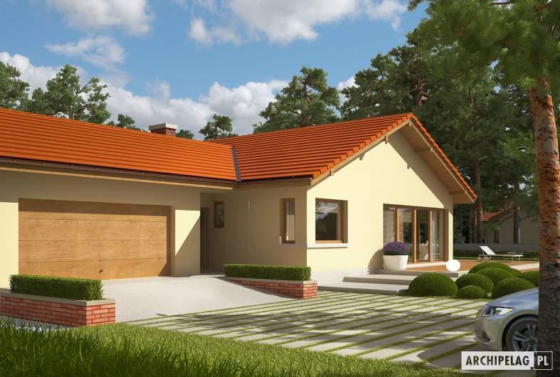 Projekt domu India G2 (wersja A) - Projekty domów ARCHIPELAG - India G2 (wersja A) - wizualizacja frontowa