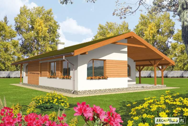 Projekt domu Miła - Projekty domów ARCHIPELAG - Miła - wizualizacja ogrodowa