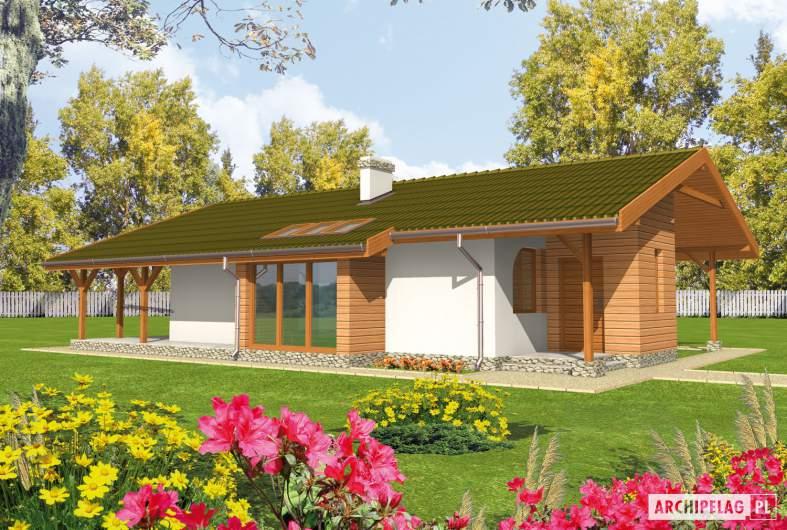 Projekt domu Miła - Projekty domów ARCHIPELAG - Miła - wizualizacja frontowa