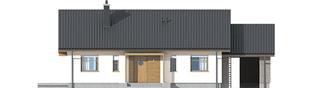 Projekt domu Kornel II (z wiatą) ENERGO - elewacja frontowa
