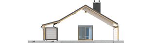 Projekt domu Kornel II (z wiatą) ENERGO - elewacja lewa