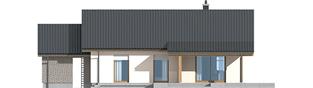 Projekt domu Kornel II (z wiatą) ENERGO - elewacja tylna