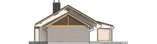 Projekt domu Kornel II (z wiatą) ENERGO - elewacja prawa
