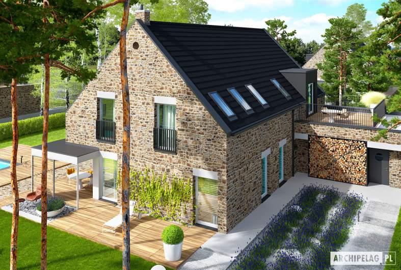 Projekt domu Teodor G2 (wersja C) ENERGO PLUS - widok z góry