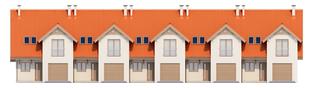 Projekt domu Rozanna II G1 - elewacja frontowa