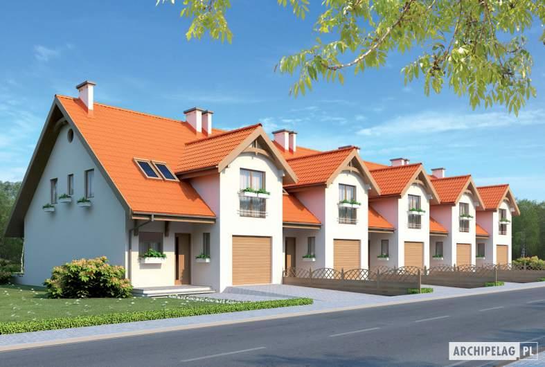 Projekt domu Rozanna II G1 - wizualizacja frontowa