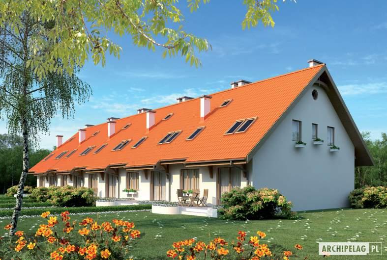 Projekt domu Rozanna II G1 - wizualizacja ogrodowa