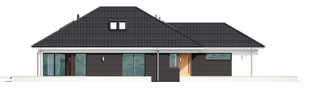 Projekt domu Alison IV G2 ENERGO PLUS - elewacja lewa