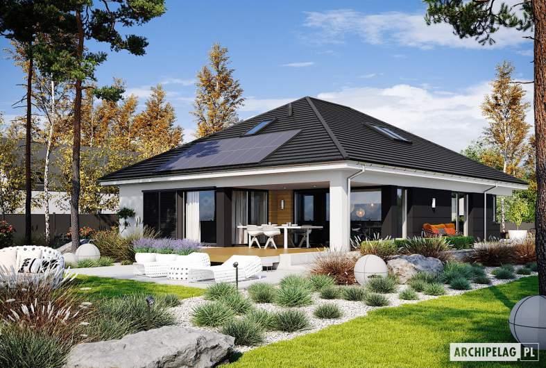 Projekt domu Alison IV G2 ENERGO PLUS - wizualizacja ogrodowa