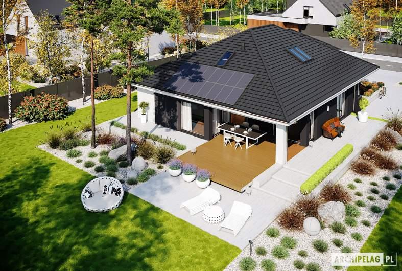 Projekt domu Alison IV G2 ENERGO PLUS - wdok z góry