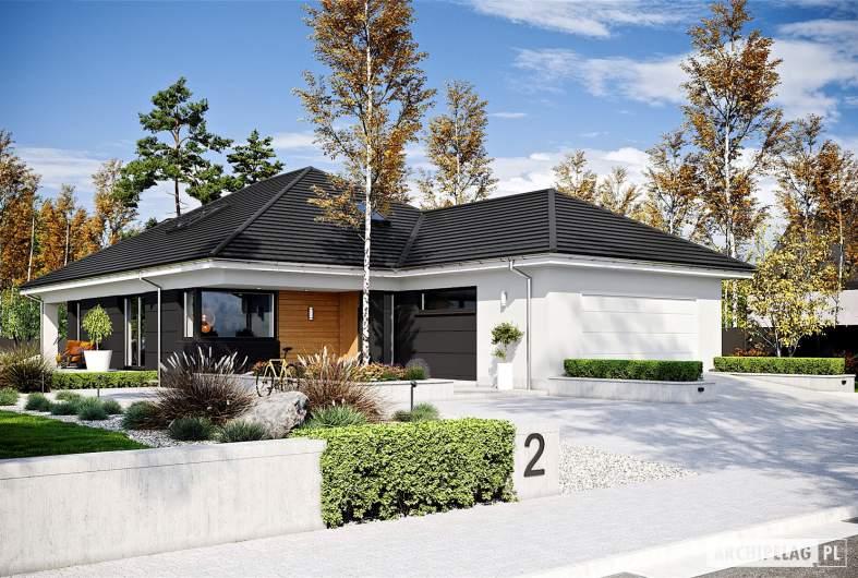 Projekt domu Alison IV G2 ENERGO PLUS - wizualizacja frontowa