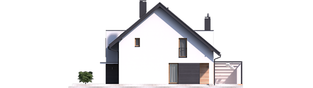 Projekt domu Konrad G1 (bliźniak) - elewacja prawa