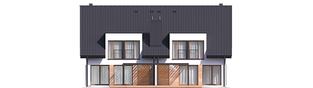 Projekt domu Konrad G1 (bliźniak) - elewacja tylna