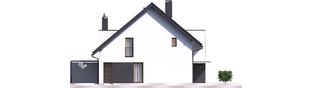 Projekt domu Konrad G1 (bliźniak) - elewacja lewa