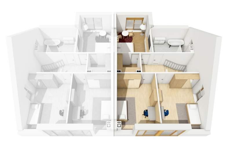 Projekt domu Konrad G1 (bliźniak) -