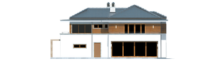 Projekt domu Leonardo G2 - elewacja tylna